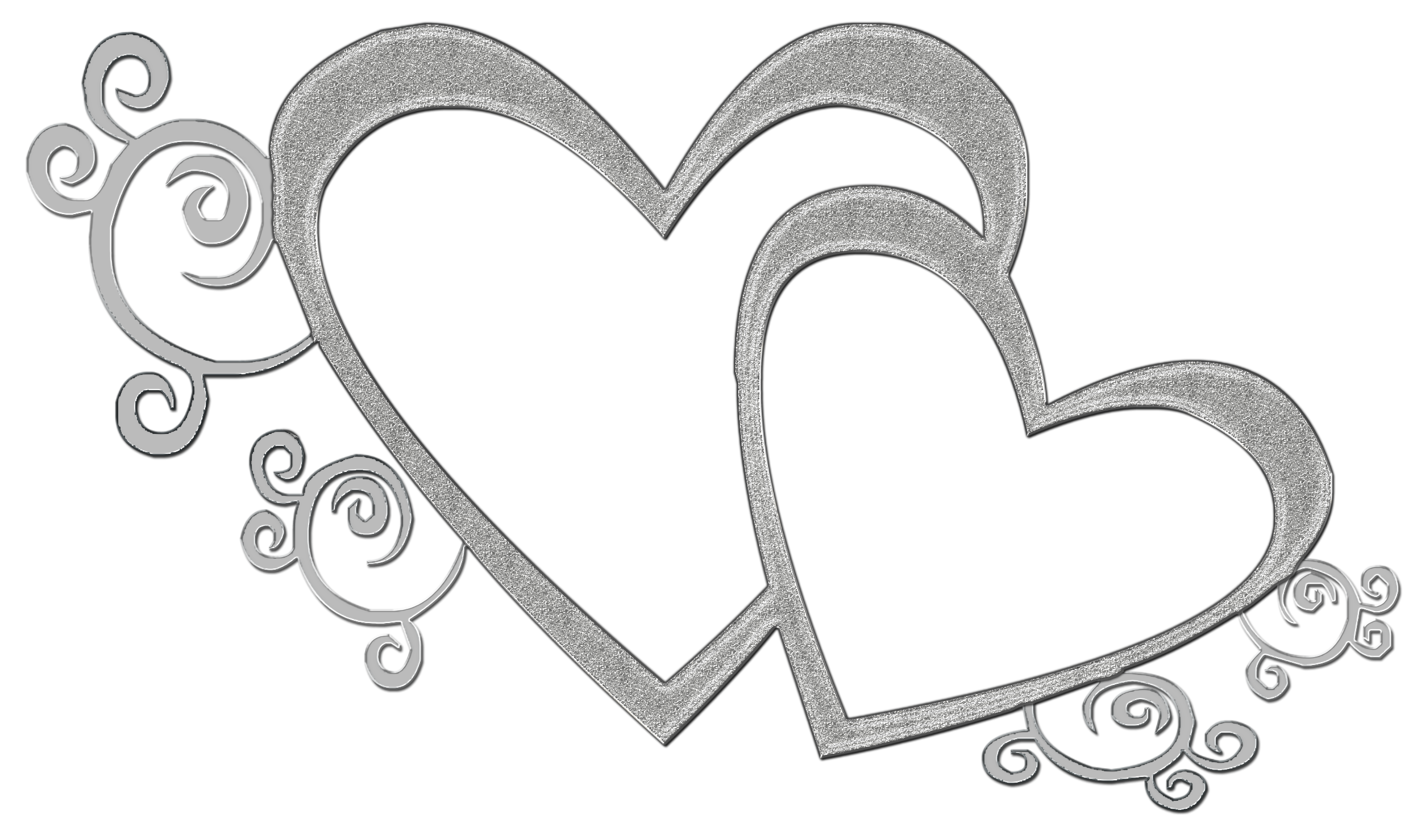 Double heart clipart black and white banner royalty free library Double Heart Clipart Black And White Transparent | Letters Format banner royalty free library
