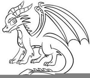 Black and white dragon clipart png black and white Simple Black Dragon Clipart | Free Images at Clker.com - vector clip ... png black and white