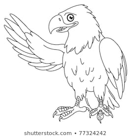 Black and white eagle clipart black and white library Cute Eagle Clipart Black And White & Free Clip Art Images #29596 ... black and white library