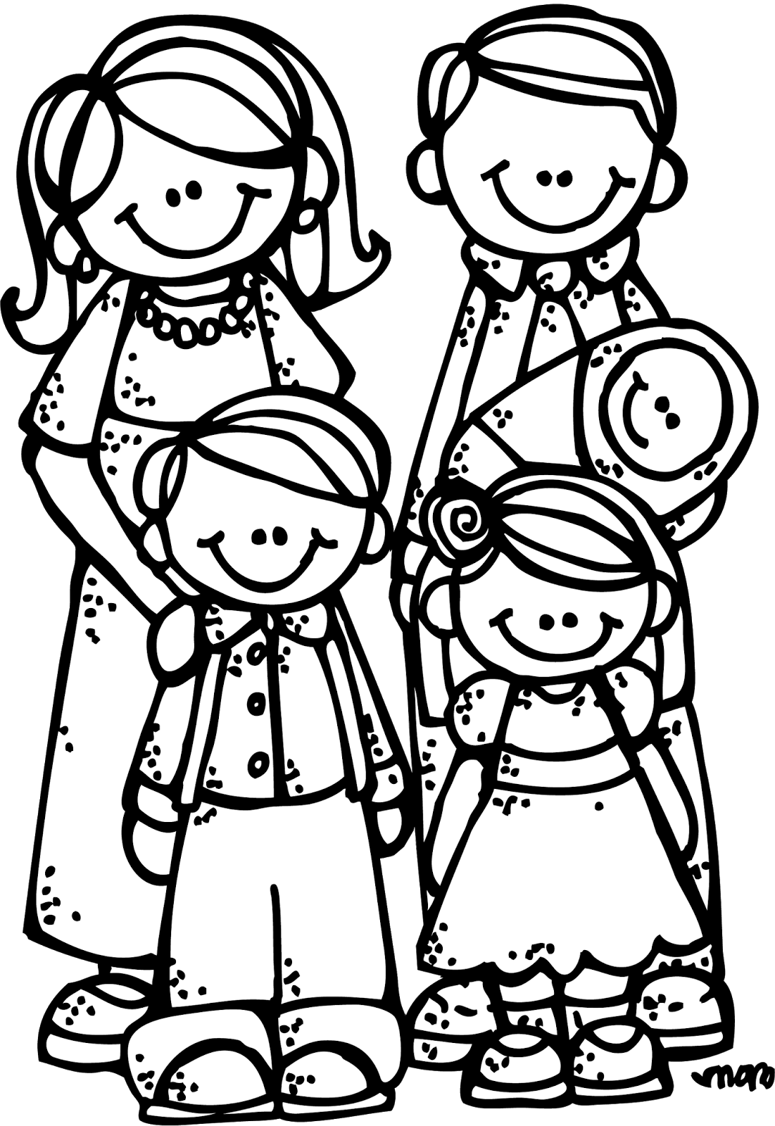 Melonheadz school clipart black and white picture freeuse Melonheadz LDS illustrating: New Eternal Family Graphics:) | Churchy ... picture freeuse