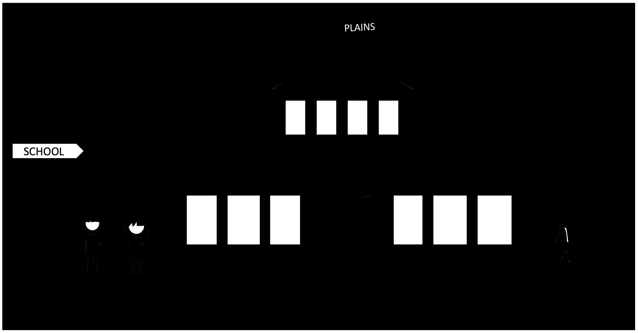 Black and white elementary school clipart jpg free stock Schools - Plains ISD jpg free stock
