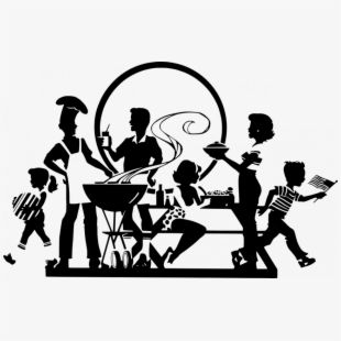 Black and white family and friends clipart graphic freeuse download Faith, Family Or Friends - Black And White Family Picnic Clipart ... graphic freeuse download