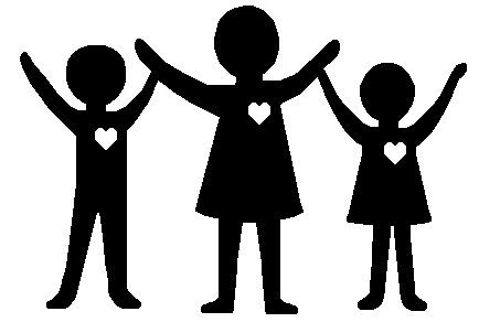 Black and white family and friends clipart jpg transparent download Dissing the Dysfunctional Family | Living and Psychology | Clipart ... jpg transparent download