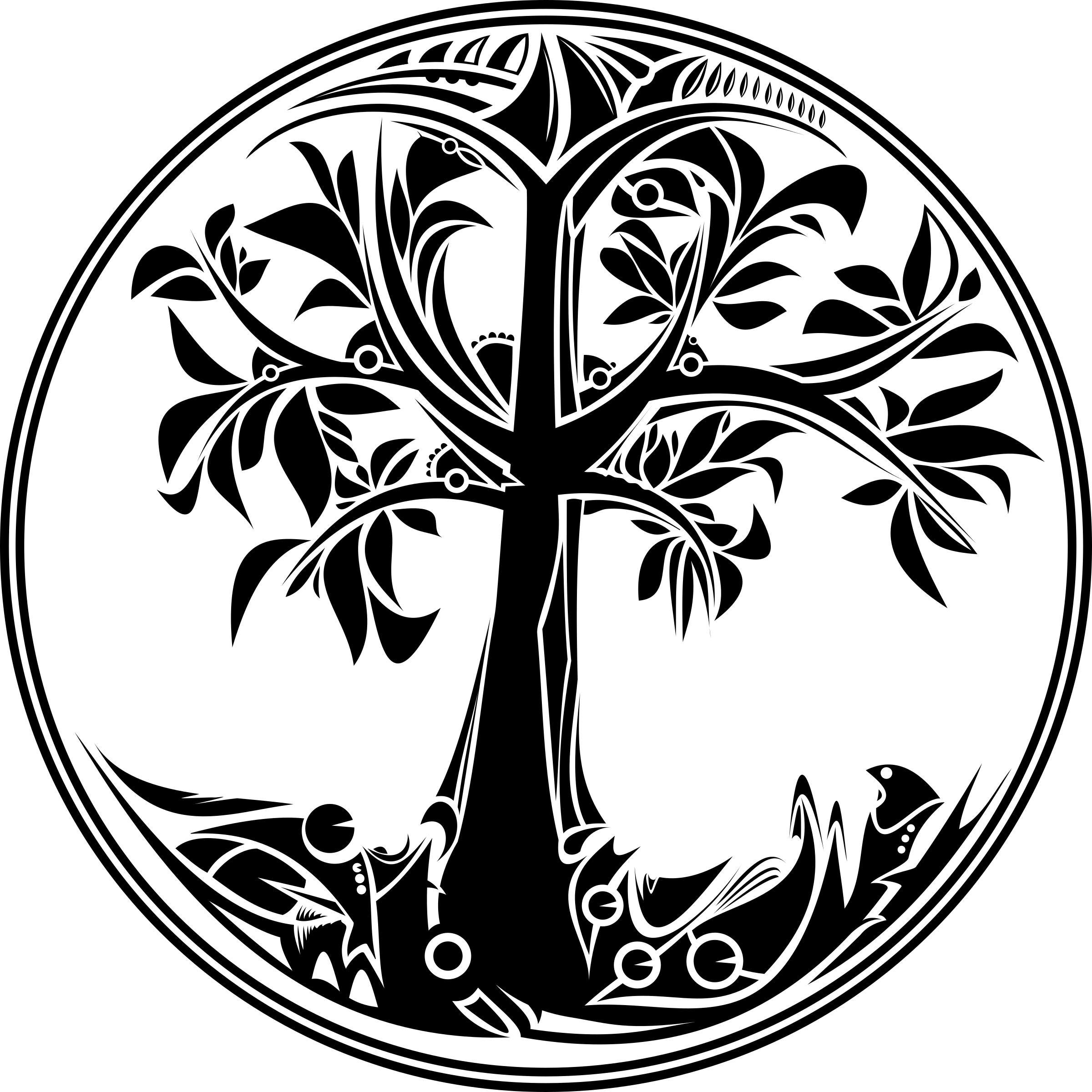 Celtic tree clipart clip library download Black And White Tree Of Life PNG Transparent Black And White Tree Of ... clip library download