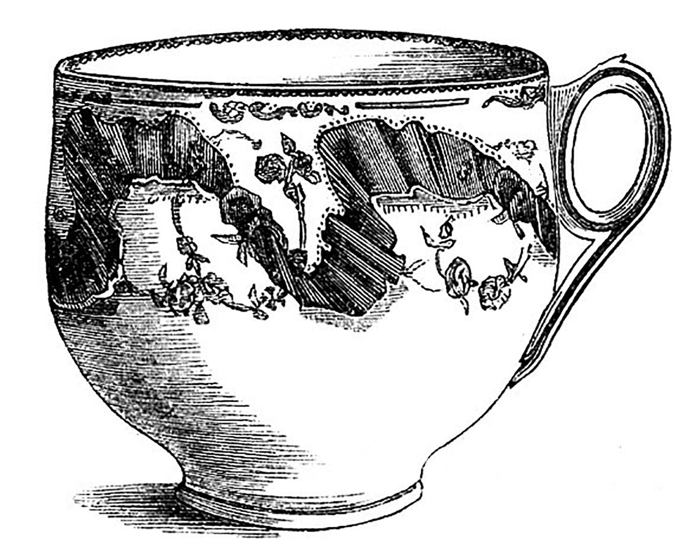 Fancy teacup clipart jpg royalty free library 10 Black and White Teacup Clip Art Images - The Graphics Fairy jpg royalty free library