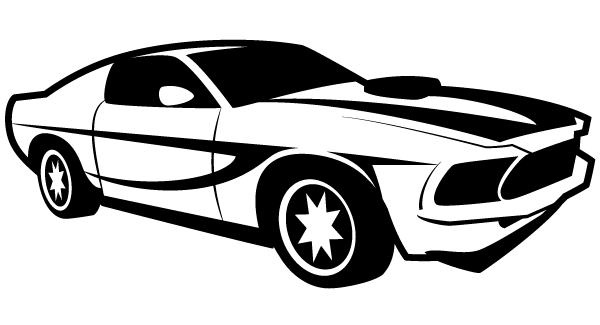 Black and white fast mastang car clipart svg black and white library Car Vector Illustrator | Great Images | Car vector, Car silhouette ... svg black and white library