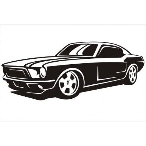 Black and white fast mastang car clipart clipart royalty free library Ford Mustang Car Silhouette | Silhouettes | Car silhouette, Car ... clipart royalty free library