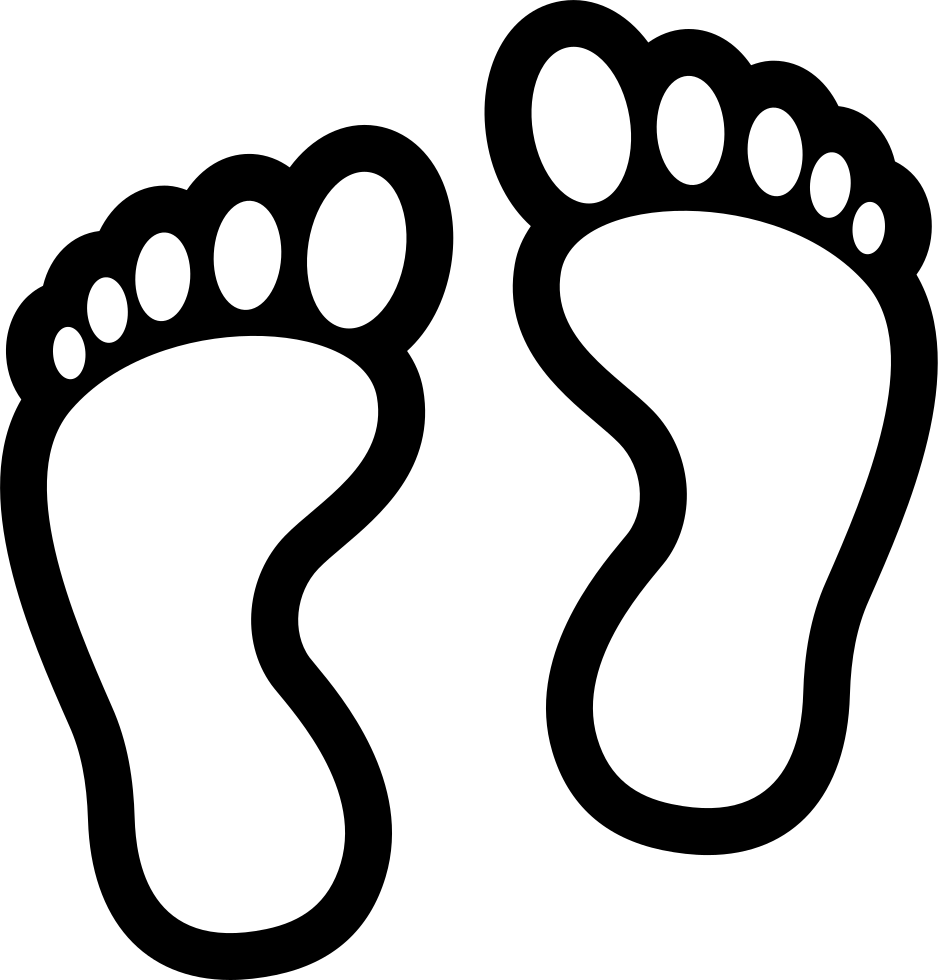 Feet black and white clipart png library stock HD Footprints Comments - Feet Clipart Black And White Transparent ... png library stock
