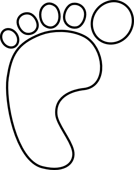 Footprint clipart black and white freeuse Feet Clip Art Black and White | Global clssroom | Baby clip art ... freeuse