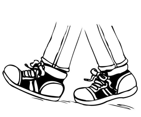 Black and white feet clipart png library library Walking Feet Clipart Black and White - Clipart1001 - Free Cliparts png library library