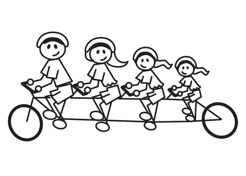 Black and white figures on wheels clipart banner black and white stock Free Image Of Family, Download Free Clip Art, Free Clip Art on ... banner black and white stock