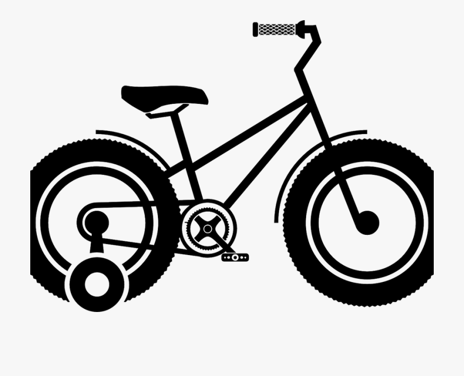 Black and white figures on wheels clipart