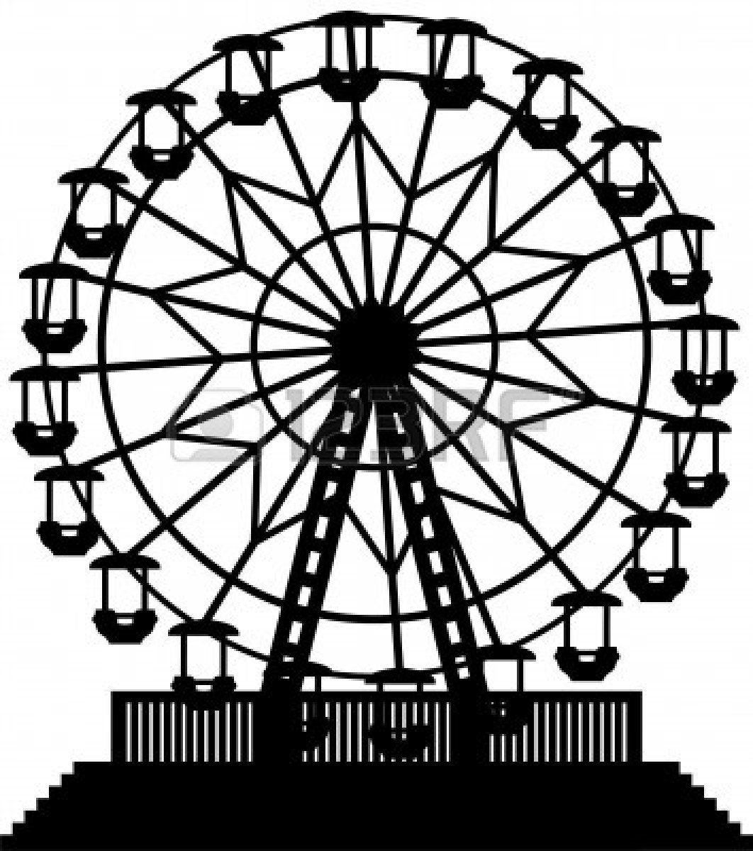 Wheels turning clipart black and white picture free download Ferris Wheel Clipart Black And White | Great free clipart ... picture free download