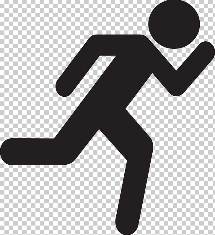 Stick figure clipart running