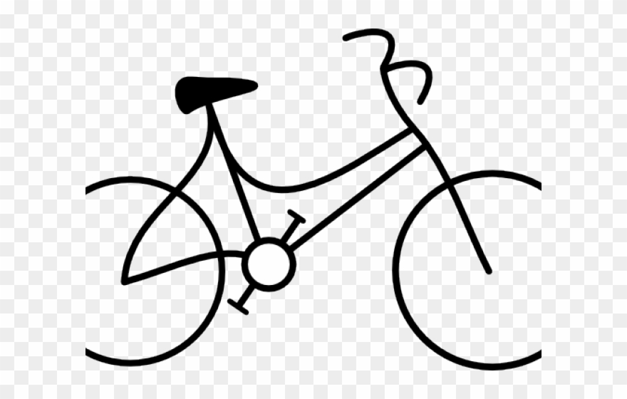 Black and white figures on wheels clipart clipart free download Cycling Clipart Bicycle Drawing - Stick Figure Bike - Png Download ... clipart free download
