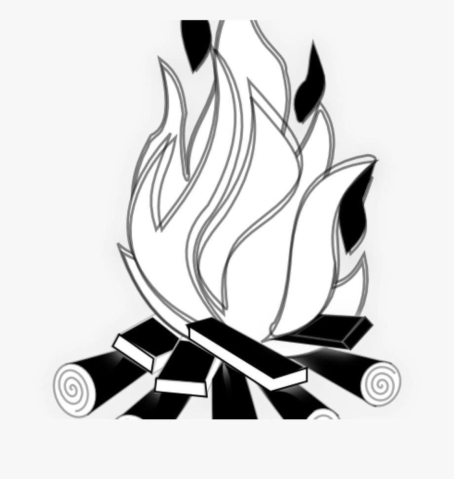 Fire clipart black and white in a line png freeuse library Fire Clipart Black And White Black And White Fire Clipart - Black ... png freeuse library