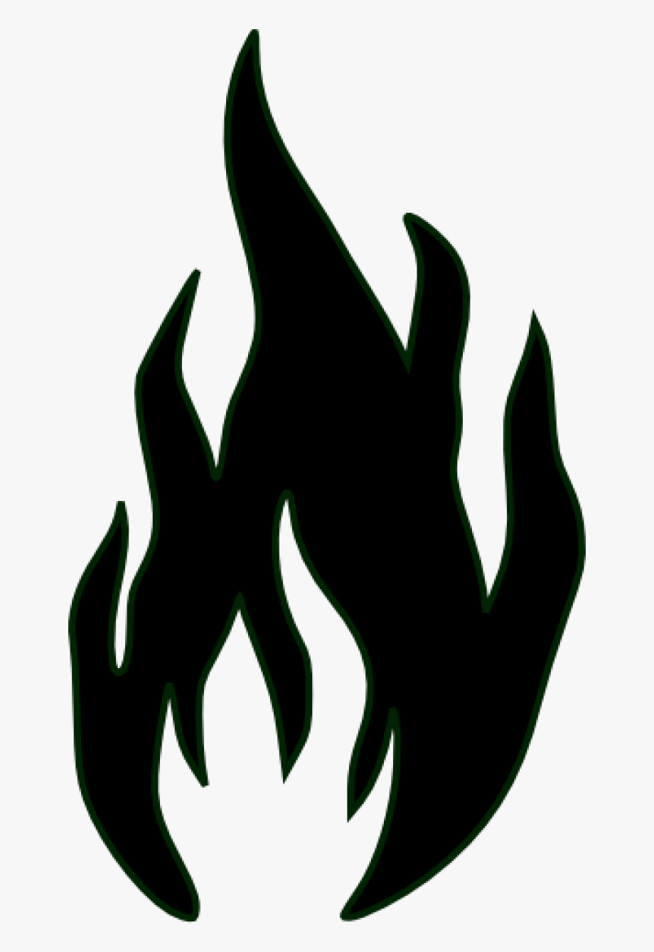 Fire outline . Free black and white flame clipart