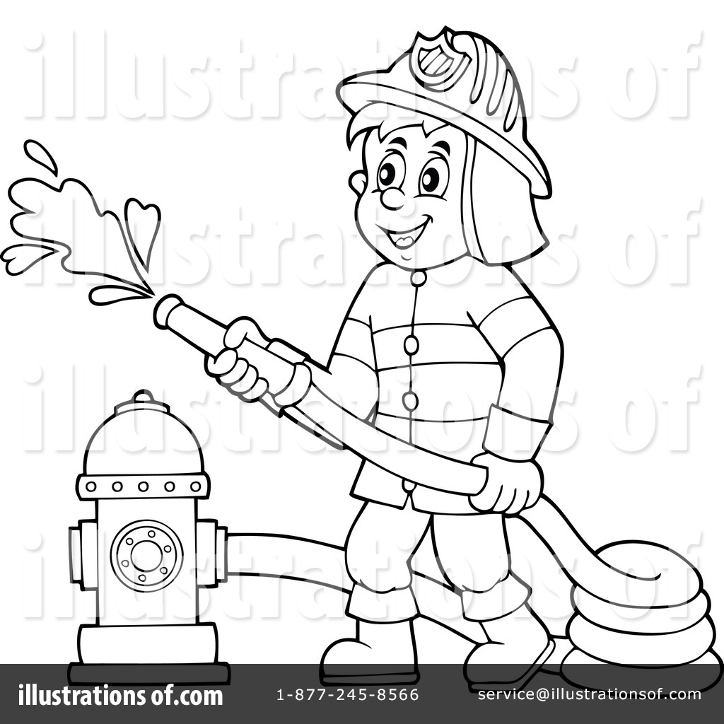 Black and white fireman clipart vector library library 92+ Firefighter Clipart Black And White | ClipartLook vector library library