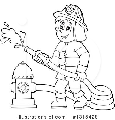 White fireman clipart clip royalty free stock 79+ Firefighter Clipart Black And White | ClipartLook clip royalty free stock