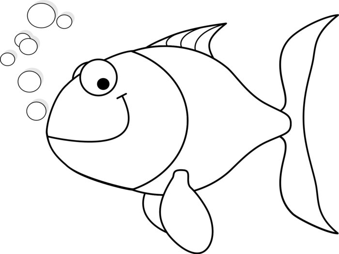 Clipart black and white fish picture Black and White Fish Clipart - BClipart picture
