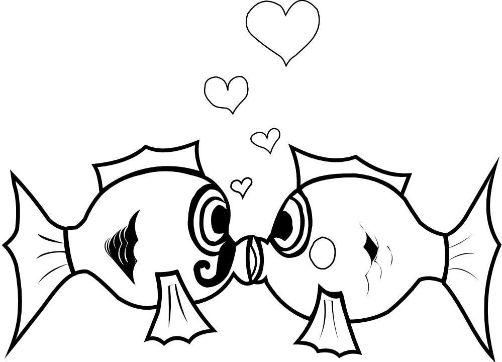 Fish clipart in black and white. Clip art panda free