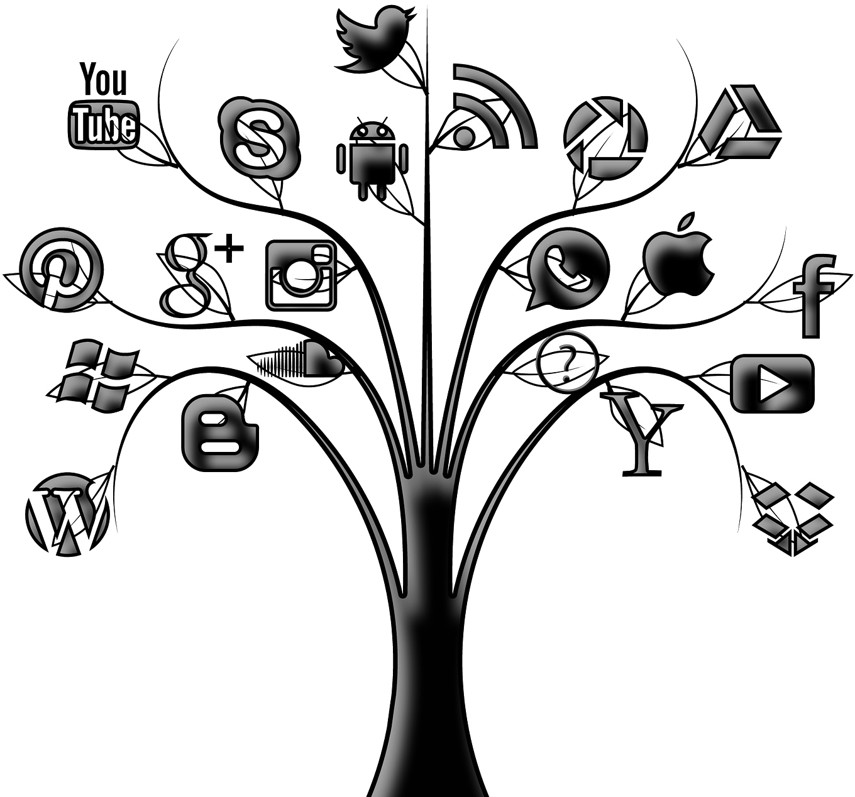 Black and white flower banner clipart banner Social Media Marketing | MyRamani Web Development and Consulting banner