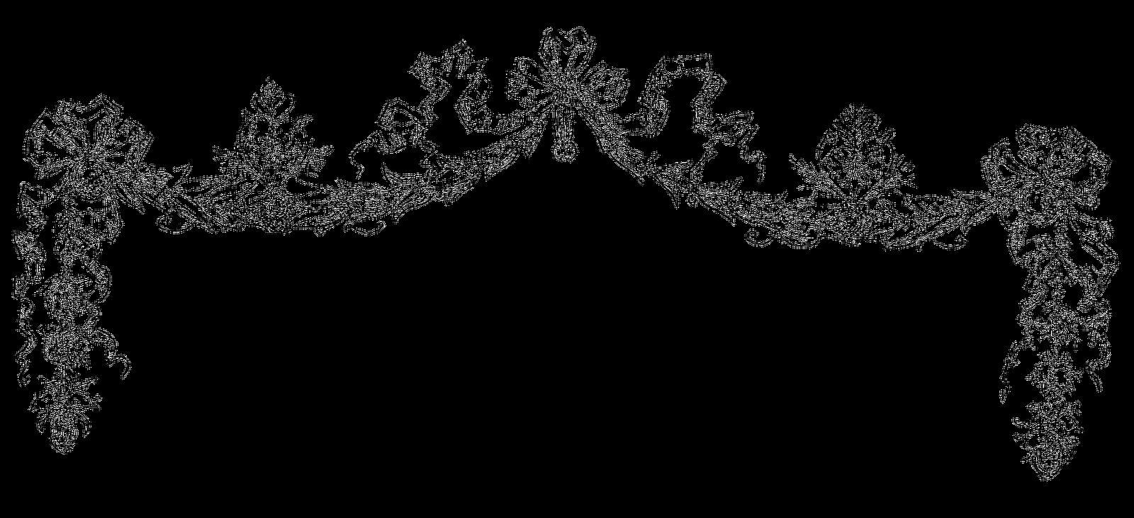 Black and white flower banner clipart banner royalty free download Flower Clip art - vintage border 1600*732 transprent Png Free ... banner royalty free download