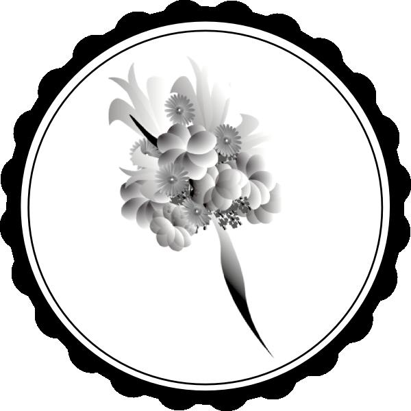 Black and white wedding flower clipart svg free Bouquet Black White Clip Art at Clker.com - vector clip art online ... svg free