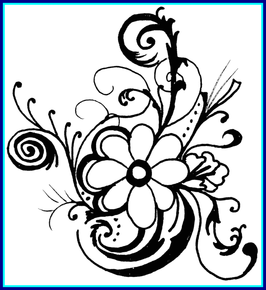 Hawaiian flower clipart border banner black and white library Unbelievable Hawaiian Flower Clip Art Borders Clipart Panda Pic For ... banner black and white library