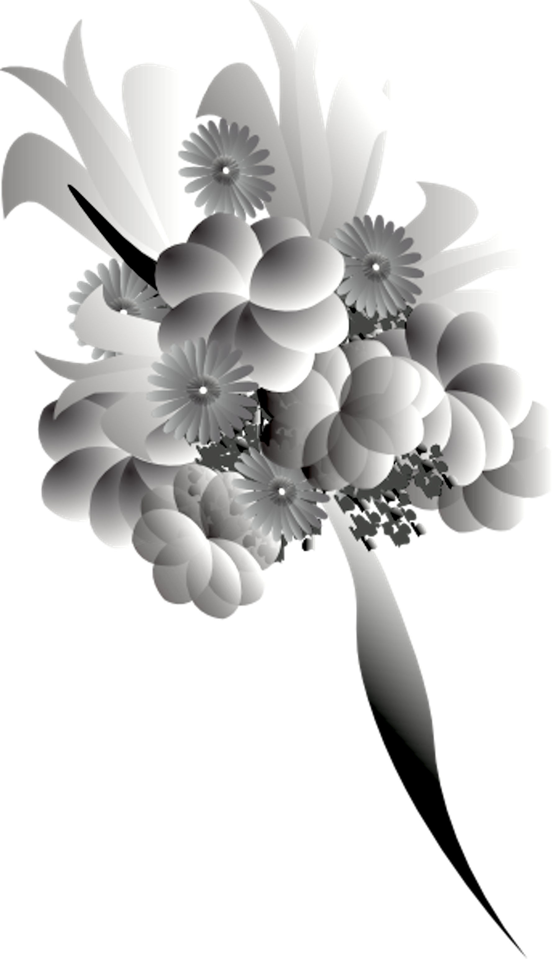 Black and white flower bouquet clipart jpg freeuse Bouquet Black White | Free Images at Clker.com - vector clip art ... jpg freeuse