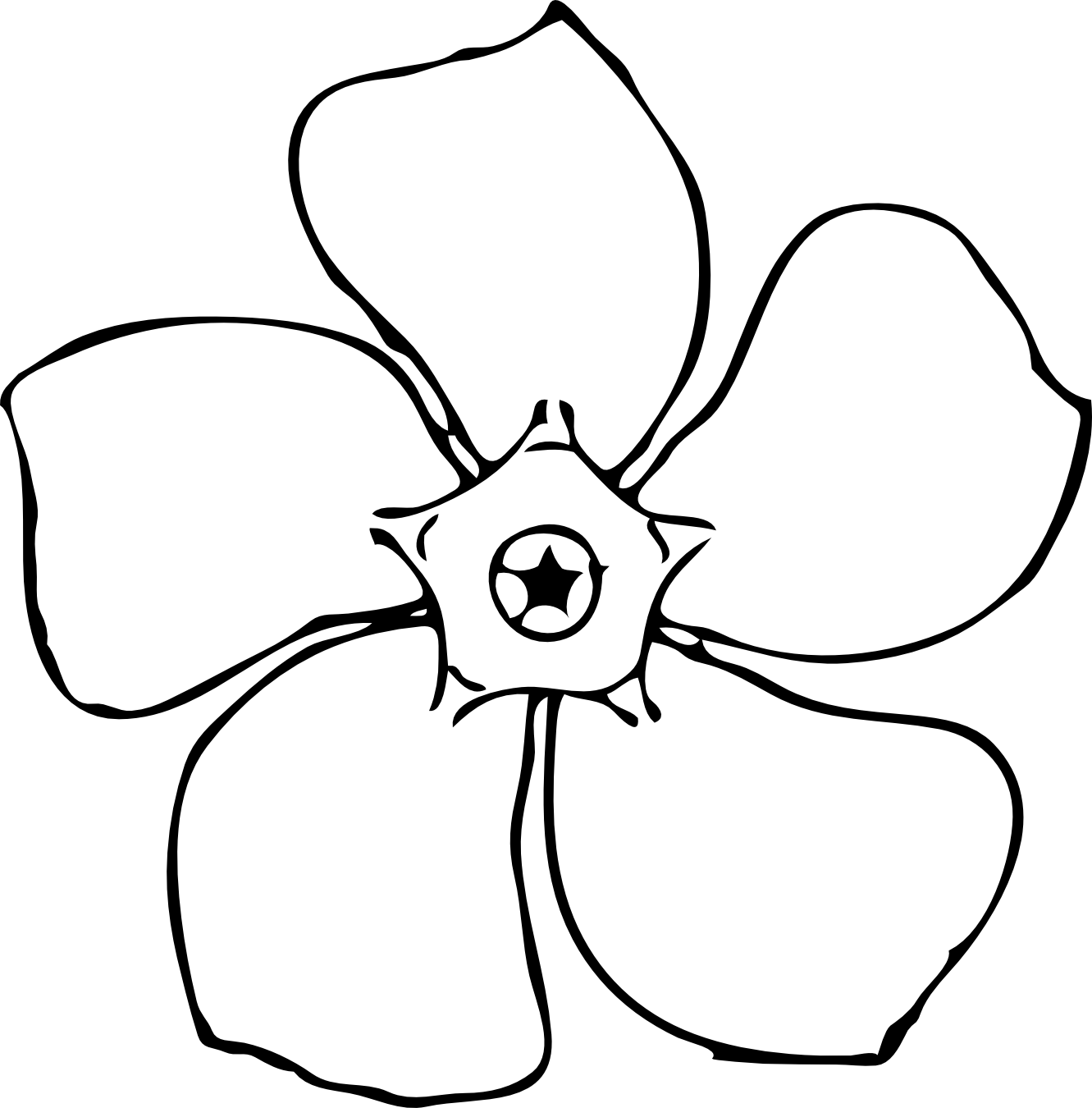 Flower clipart with roots svg library library Clipart Spring Flowers Black And White | Clipart Panda - Free ... svg library library
