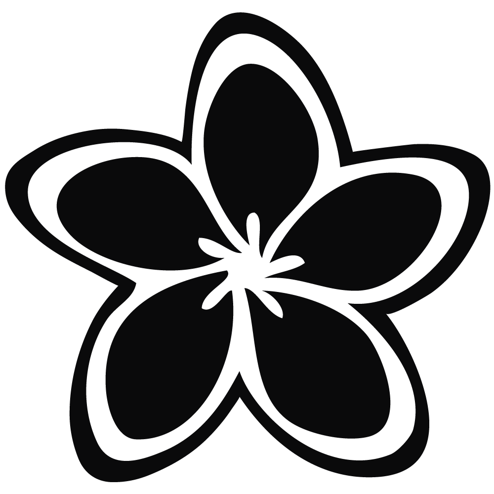 Jasmine png and white. Flower clipart black background