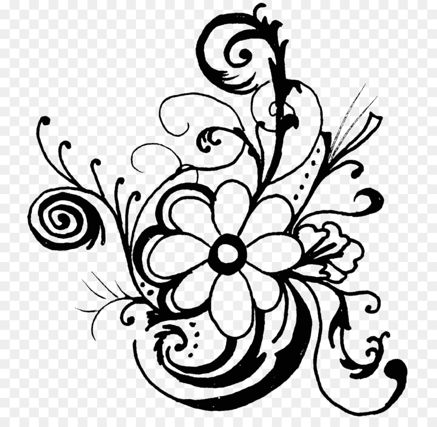 Wedding flower design clipart transparent stock Black And White Flower png download - 800*873 - Free Transparent ... transparent stock