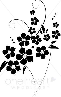 Black fabric fring cliparts download Free Clip Art Black and White Flowers | flower flourishes clipart ... download