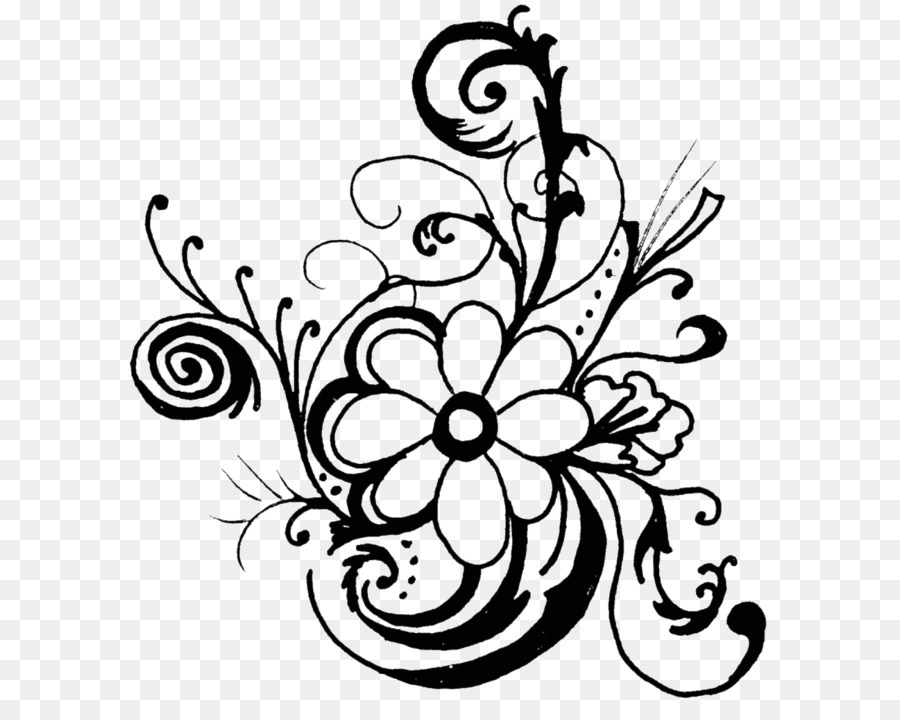 Black and white flower design clipart image royalty free download Flower Black And White Png & Free Flower Black And White.png ... image royalty free download