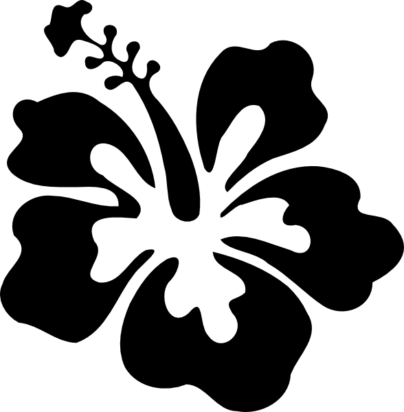 Flower clipart bw vector download 28+ Collection of Gumamela Flower Clipart Black And White | High ... vector download