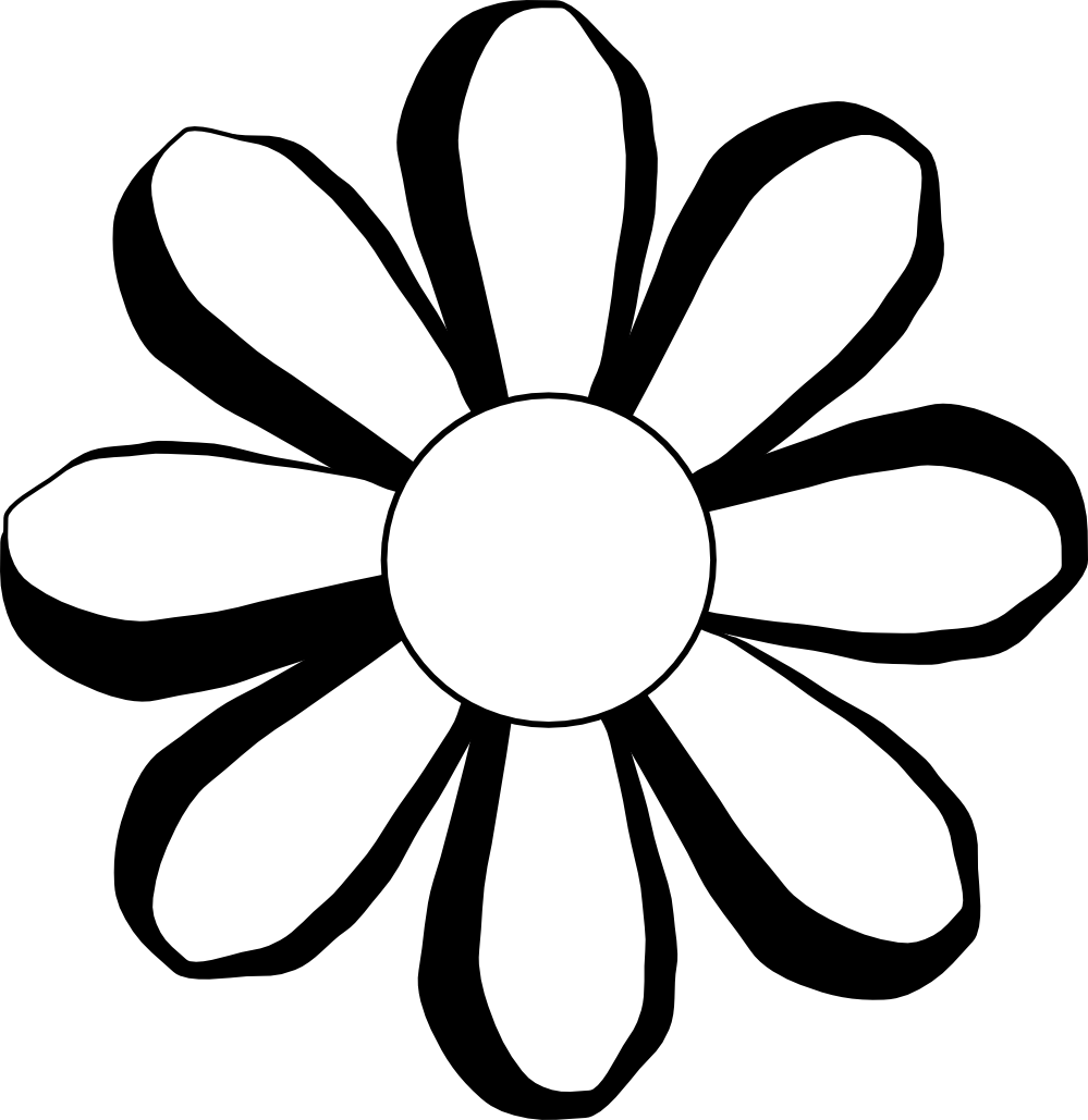 Black and white flower outline free clipart clipart free library Flower Black And White Clipart | Free download best Flower Black And ... clipart free library