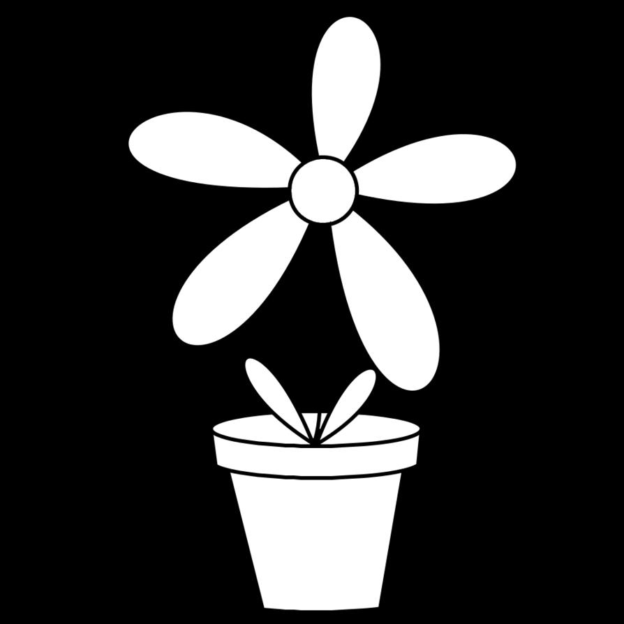 Clipart flower pot black and white vector black and white download Awesome Flower Pot Images Black and White vector black and white download