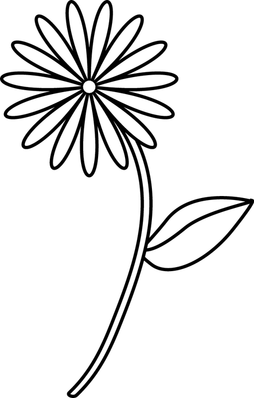 Flower stem black and white clipart png library Flower Stem Drawing at GetDrawings.com | Free for personal use ... png library