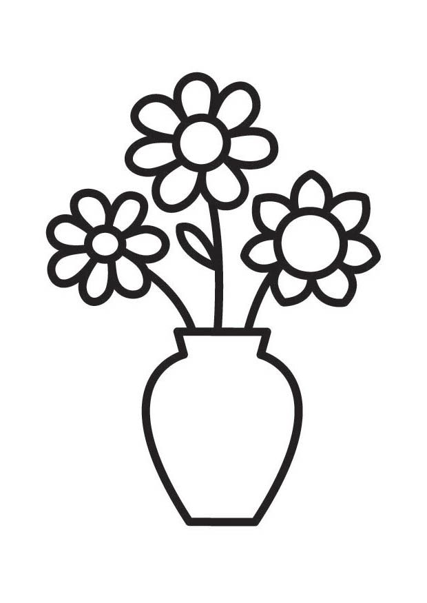 Black and white flowers in a vase clipart picture freeuse flowers coloring pages   Flower Vase Coloring Pages   doodling ideas ... picture freeuse