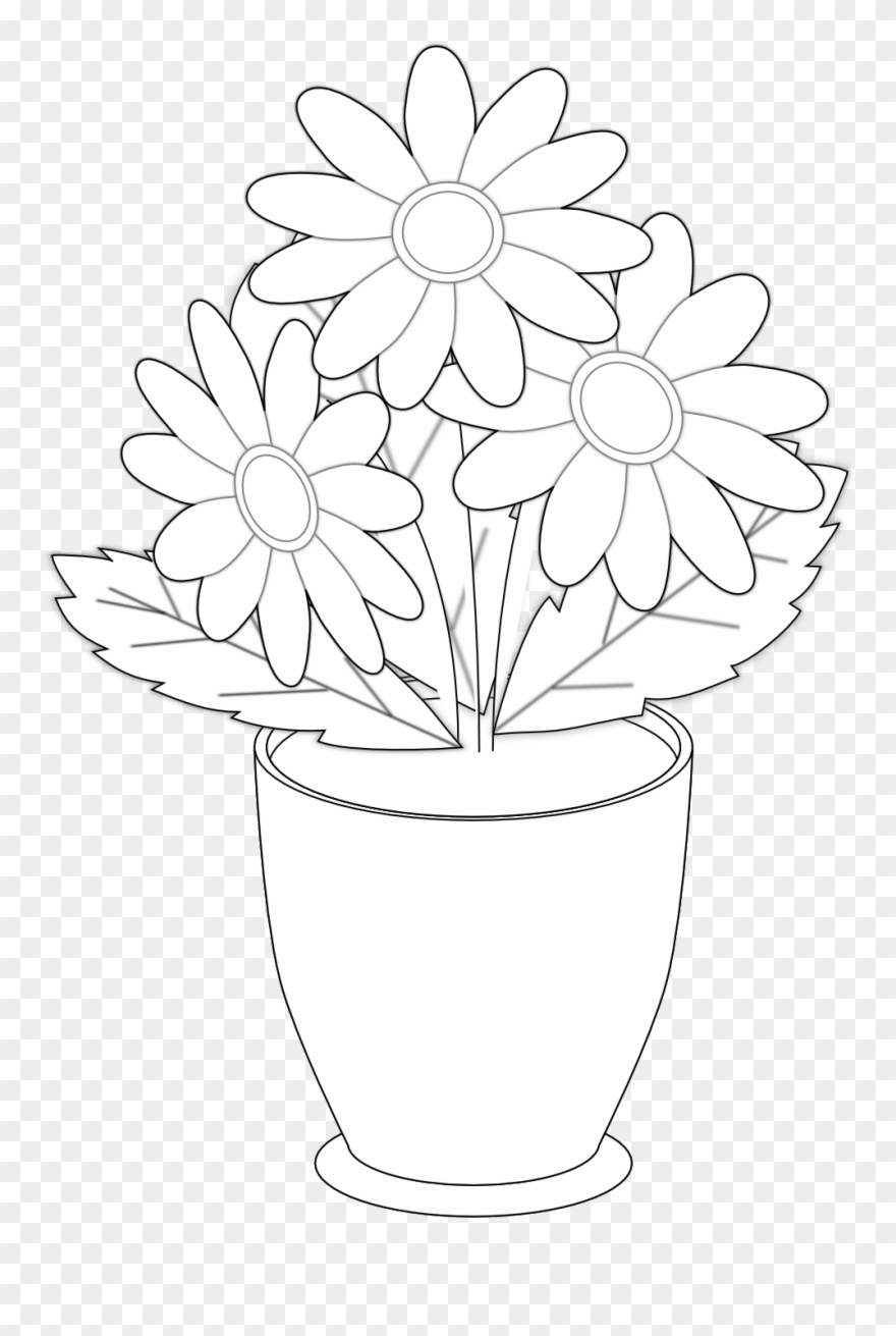 Black and white flowers in a vase clipart clip art library library Vase Clipart Clip Art - Draw The Flower Vases - Png Download (#47536 ... clip art library library