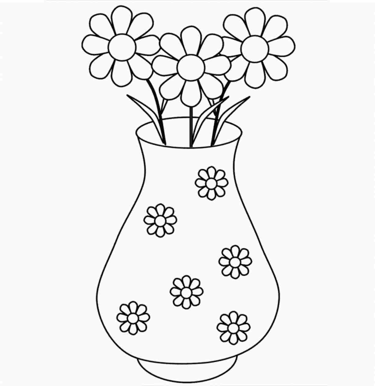 Clipart black and white flowers in a vase clipart library library With Design flower vase clipart black and white decoration ... clipart library library