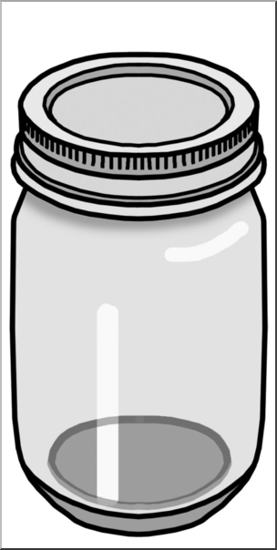 Black and white food containers clipart clipart freeuse library Clip Art: Food Containers: Jar Grayscale I abcteach.com | abcteach clipart freeuse library