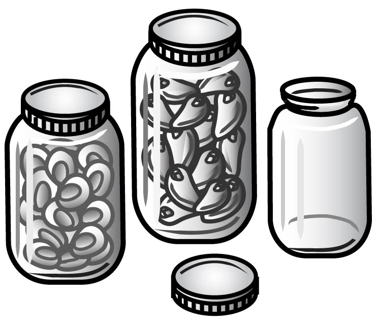 Black and white food containers clipart png library library Food Storage Cliparts - Cliparts Zone png library library
