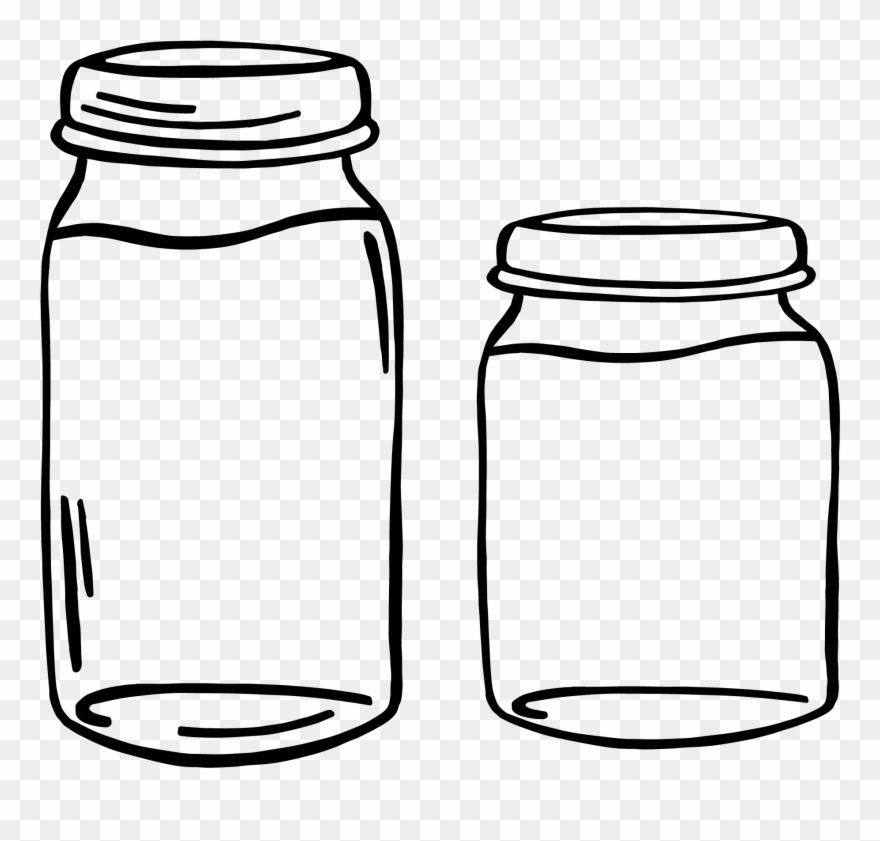 Black and white food containers clipart picture black and white stock Jar Clipart Png - Glass Container Clipart Transparent Png (#3507215 ... picture black and white stock