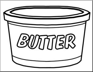 Black and white food containers clipart clip art free download Clip Art: Food Containers: Butter Tub B&W I abcteach.com | abcteach clip art free download