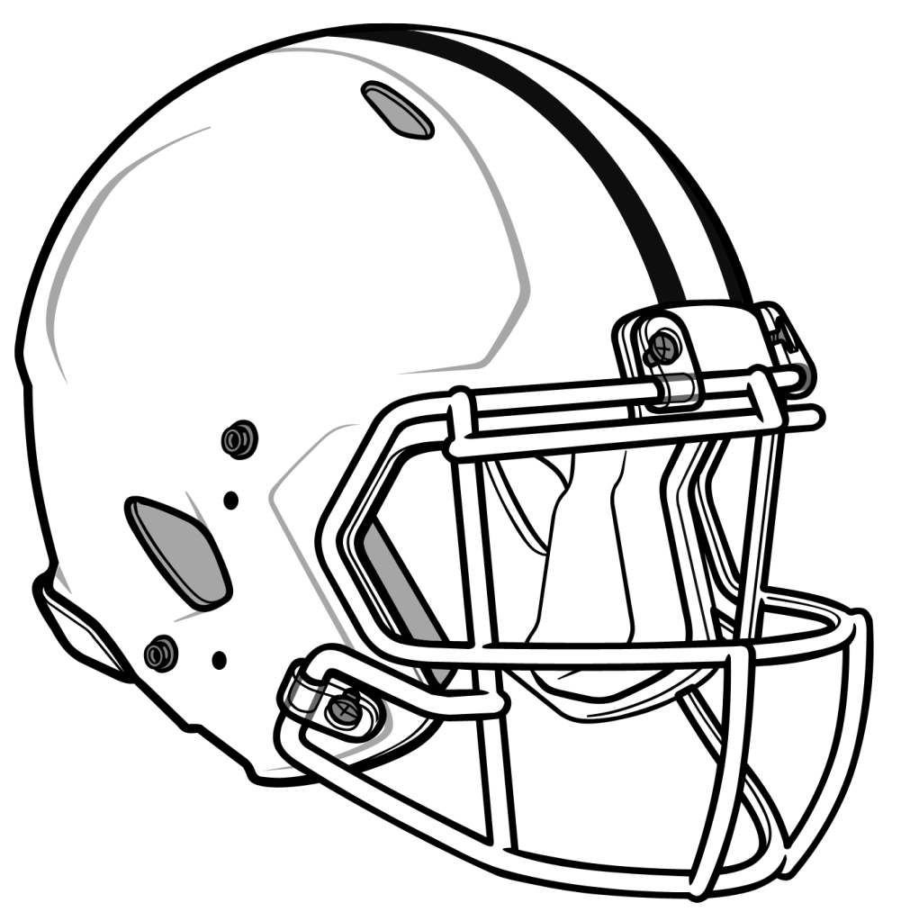 Black and white football field clipart graphic free stock 28+ Collection of Helmet Football Drawing   High quality, free ... graphic free stock