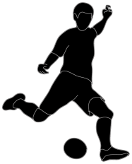 Black and white football player clipart picture royalty free download Different Kinds of Sports Clipart picture royalty free download