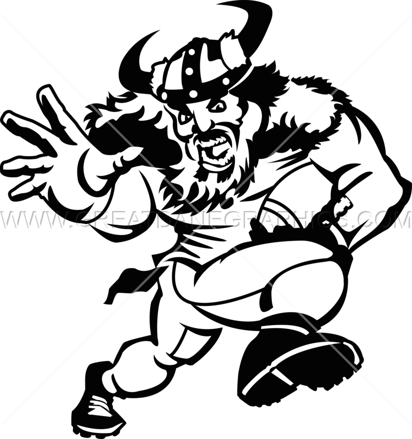 Football player clipart gray jpg black and white download Viking Football Player | Production Ready Artwork for T-Shirt Printing jpg black and white download