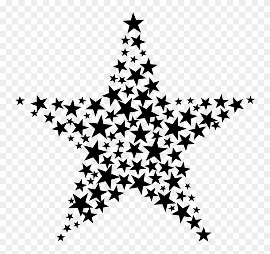 Black and white fractal clipart banner transparent library Fractal Art Star Symmetry Geometry - Star Fractal Clipart (#145074 ... banner transparent library